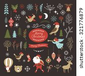 big set of christmas graphic... | Shutterstock .eps vector #321776879