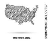 america map hand draw | Shutterstock .eps vector #321779717