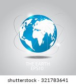 globe icon planet earth on grey ... | Shutterstock .eps vector #321783641