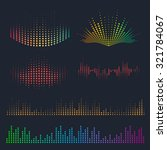 vector sound waves set. music... | Shutterstock .eps vector #321784067