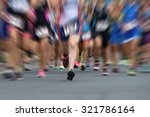marathon runners in the race... | Shutterstock . vector #321786164