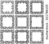 big set of square black frame... | Shutterstock .eps vector #321788105
