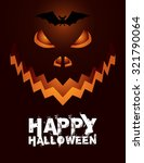 pumpkin for happy halloween  ... | Shutterstock .eps vector #321790064