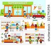 supermarket infographic... | Shutterstock .eps vector #321791954