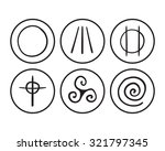 vector hand drawn symbols of... | Shutterstock .eps vector #321797345