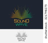 sound wave  vector logo design... | Shutterstock .eps vector #321798275