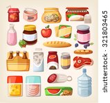 set of common goods and... | Shutterstock .eps vector #321803465