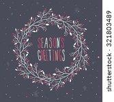 season's greetings wreath print ... | Shutterstock .eps vector #321803489