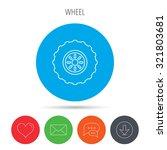 tractor wheel icon. tire...   Shutterstock .eps vector #321803681