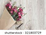 Pink Eustoma Flowers Wrapped I...