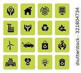 ecology icon. ecological icons. ... | Shutterstock .eps vector #321804734
