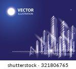 city landscape. beautiful... | Shutterstock .eps vector #321806765
