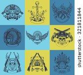 set of nine art label. vector... | Shutterstock .eps vector #321811844