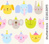 seamless pattern with cute... | Shutterstock .eps vector #321813095
