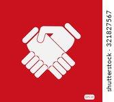 handshake vector illustration | Shutterstock .eps vector #321827567