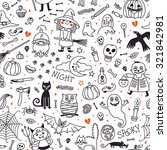 halloween seamless pattern.... | Shutterstock .eps vector #321842981