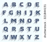alphabet letters set. fast... | Shutterstock .eps vector #321844151