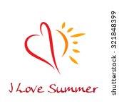 vector heart and sun  love the... | Shutterstock .eps vector #321848399
