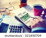 team accounting working office... | Shutterstock . vector #321850709