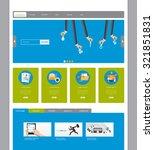 modern flat website template... | Shutterstock .eps vector #321851831