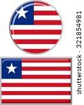 liberian round and square icon... | Shutterstock . vector #321854981