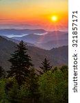 warm morning light spill out... | Shutterstock . vector #321857171