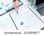 business woman working at... | Shutterstock . vector #321859877