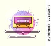 Audio Tape Cassette Vector.