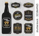vintage premium whiskey brands... | Shutterstock .eps vector #321864965