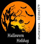 halloween holiday poster with... | Shutterstock . vector #321866579