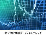 stock exchange graph screen...   Shutterstock . vector #321874775