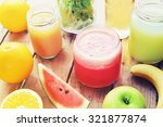 fruit smoothie | Shutterstock . vector #321877874