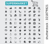 supermarket icons | Shutterstock .eps vector #321879821