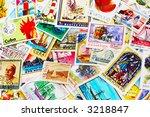 random collection of postal... | Shutterstock . vector #3218847