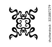 tribal tattoo vector design... | Shutterstock .eps vector #321887279