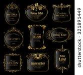 vector set of gold framed labels | Shutterstock .eps vector #321891449