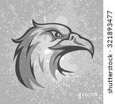 black and grey eagle head logo... | Shutterstock .eps vector #321893477