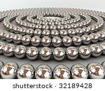chrome spheres in concentric... | Shutterstock . vector #32189428