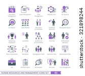 human resources and management  ... | Shutterstock .eps vector #321898244