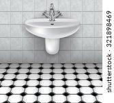 bathroom interior with white... | Shutterstock .eps vector #321898469