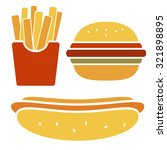 vector fast food icon set... | Shutterstock .eps vector #321898895