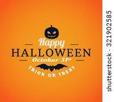 retro happy halloween badge ... | Shutterstock .eps vector #321902585