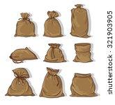 canvas sack vector. canvas bag. ... | Shutterstock .eps vector #321903905