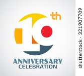 template logo 10th anniversary...