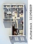 apartments 3d design project...   Shutterstock . vector #321908009