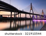 bhumibol bridge in thailand ... | Shutterstock . vector #321910544
