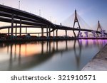 bhumibol bridge in thailand ... | Shutterstock . vector #321910571