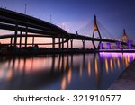 bhumibol bridge in thailand ... | Shutterstock . vector #321910577