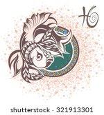 pisces. zodiac sign | Shutterstock .eps vector #321913301
