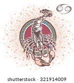 cancer. zodiac sign | Shutterstock .eps vector #321914009